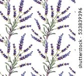 seamless pattern with lavender... | Shutterstock . vector #533839396