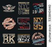 new york city typography... | Shutterstock .eps vector #533840440