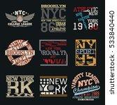 new york city typography... | Shutterstock .eps vector #533840440