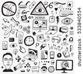 web doodles sketch icons | Shutterstock .eps vector #533840554