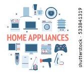 home electronics appliances... | Shutterstock .eps vector #533841319
