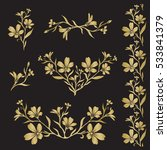 chickweed  tomentosum cerastium ... | Shutterstock .eps vector #533841379