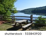 Lakeside Picnic Table With A...