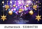 christmas dark purple...   Shutterstock .eps vector #533844730