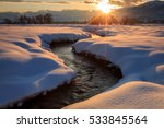 winding stream and winter... | Shutterstock . vector #533845564