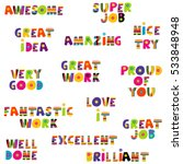 positive feedback messages in... | Shutterstock .eps vector #533848948