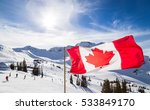 canadian flag flying near the... | Shutterstock . vector #533849170