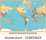 world map america centered and... | Shutterstock .eps vector #533853823