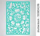 die cut card. laser cut vector... | Shutterstock .eps vector #533854198