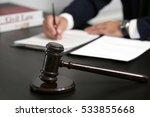 judge gavel on table  closeup