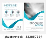 brochure layout design template | Shutterstock .eps vector #533857939