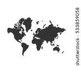 world map icon flat.... | Shutterstock .eps vector #533859058