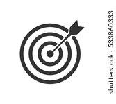 target bullseye arrow icon flat.... | Shutterstock .eps vector #533860333
