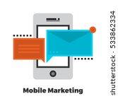 mobile marketing flat icon.... | Shutterstock .eps vector #533862334