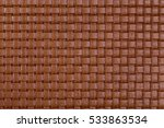 vintage natural brown braided... | Shutterstock . vector #533863534