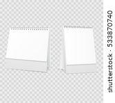 blank desktop calendar isolated ... | Shutterstock .eps vector #533870740