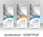 roll up banner stand template... | Shutterstock .eps vector #533877010
