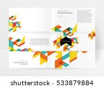 geometric background template... | Shutterstock .eps vector #533879884