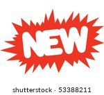 New! - stock vector