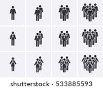 staff people icons set.... | Shutterstock .eps vector #533885593