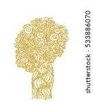 hand drawn pattern gold glitter.... | Shutterstock .eps vector #533886070