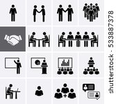 Conference Meeting Icons Set....