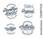 denim typography t shirt design ... | Shutterstock .eps vector #533887918