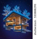 3d rendering section of cozy... | Shutterstock . vector #533888290