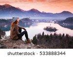 travel slovenia  europe. woman...   Shutterstock . vector #533888344