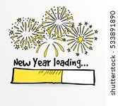 loading bar with fireworks  new ... | Shutterstock .eps vector #533891890