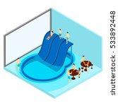 indoor water park with tables...   Shutterstock . vector #533892448