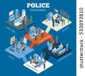 police department isometric... | Shutterstock . vector #533893810