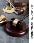 Law Gavel Hammer Lawyer Book...