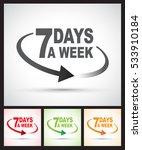 seven days a week around the...   Shutterstock .eps vector #533910184