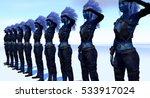 Female Alien Army Salute 3d...
