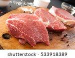 cooking dinner. overhead pieces ... | Shutterstock . vector #533918389