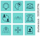 set of 9 business management... | Shutterstock .eps vector #533919796