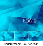 fractal abstract background.... | Shutterstock .eps vector #533920534