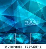 fractal abstract background.... | Shutterstock .eps vector #533920546