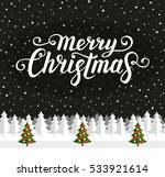 merry christmas text.... | Shutterstock .eps vector #533921614