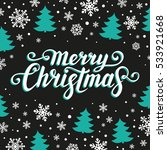 merry christmas text.... | Shutterstock .eps vector #533921668