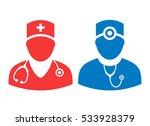 doctor vector icon set... | Shutterstock .eps vector #533928379