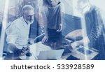 double exposure concept.young... | Shutterstock . vector #533928589