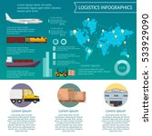 logistics infographic elements... | Shutterstock .eps vector #533929090