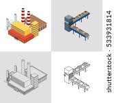 vector illustration. factory... | Shutterstock .eps vector #533931814