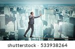 man walking in tight rope... | Shutterstock . vector #533938264