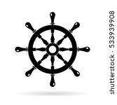 boat steering wheel vector icon ... | Shutterstock .eps vector #533939908