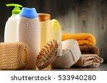plastic bottles of body care... | Shutterstock . vector #533940280