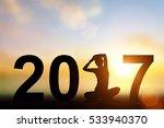 silhouette asia woman yoga in...   Shutterstock . vector #533940370