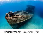 Underwater Wreck Of The Uss...